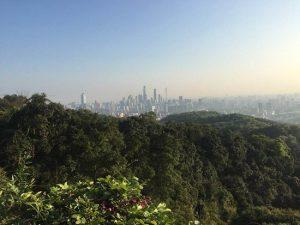 foto da vista da cidade da montanha Baiyun